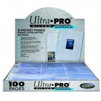 9-pocket sleeve ultra pro box -100ct silver