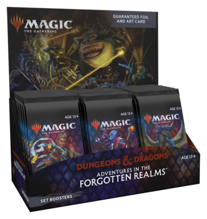 D&D adventures in the forgotten realms set booster box